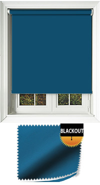 Blackout Atlantic Blue Cordless Roller Blind
