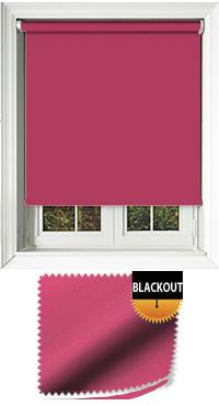 Blackout Fuschia Bifold Doors Blind