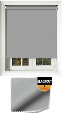 Blackout Grey Motorised Roller Blind