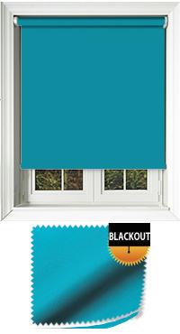 Blackout Kingfisher Roller Blind