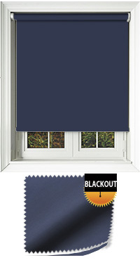 Blackout Navy Motorised Roller Blind