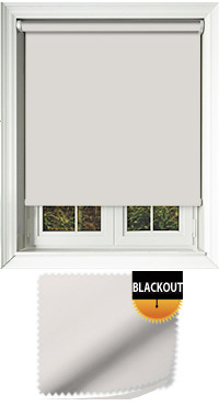 Blackout Optic White Motorised Roller Blind