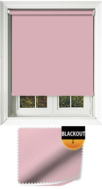 Blackout Pink Motorised Roller Blind