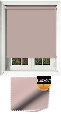 Blackout Rose Roller Blind