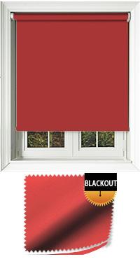 Blackout Scarlet Cordless Roller Blind