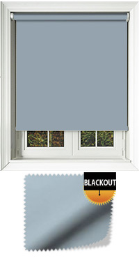 Blackout Smokey Blue Motorised Roller Blind