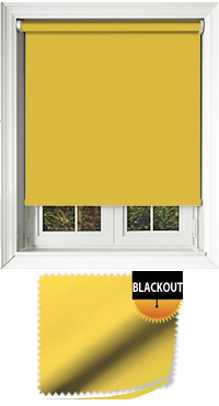 Blackout Sunflower Roller Blind