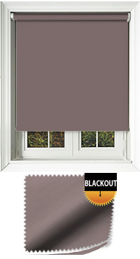 Blackout Taupe Motorised Roller Blind