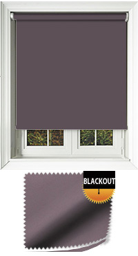 Blackout Zinc Motorised Roller Blind