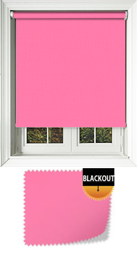 Bedtime Bright Pink Cordless Roller Blind