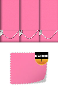 Bedtime Bright Pink Vertical Blind
