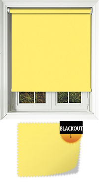 Bedtime Canary Yellow Motorised Roller Blind