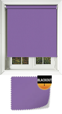 Bedtime Deep Purple Motorised Roller Blind