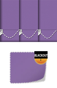 Bedtime Deep Purple Vertical Blind