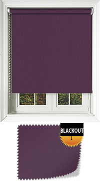 Bedtime Grape Motorised Roller Blind