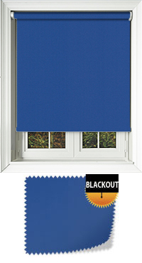 Bedtime Royal Blue Cordless Roller Blind