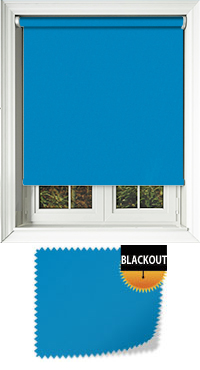 Bedtime Sea Blue Cordless Roller Blind