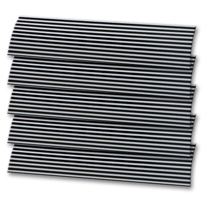 Black And White Stripe Replacement Vertical Blind Slat