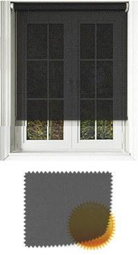 Black Sun Screen Replacement Vertical Blind Slat