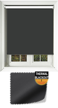 Blackout Thermic Black Cordless Roller Blind