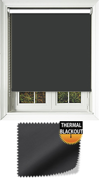Blackout Thermic Black Replacement Vertical Blind Slat