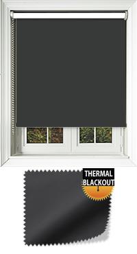 Blackout Thermic Black Roller Blind