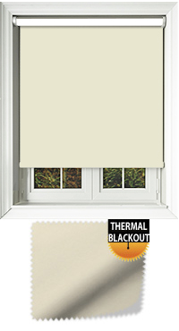 Blackout Thermic Cream Wooden Blind
