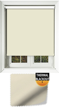 Blackout Thermic Cream Replacement Vertical Blind Slat
