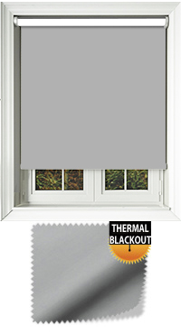 Blackout Thermic Grey Motorised Roller Blind