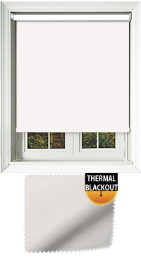 Blackout Thermic Optic White Motorised Roller Blind