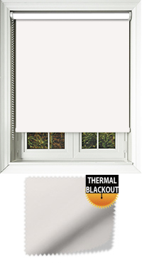 Blackout Thermic Optic White Cordless Roller Blind
