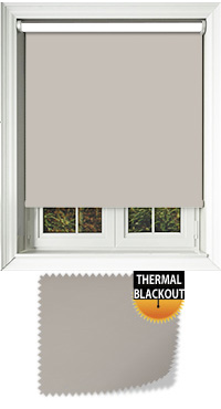 Blackout Thermic Stone Cordless Roller Blind
