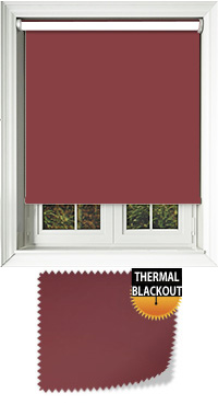 Blackout Thermic Wine Motorised Roller Blind