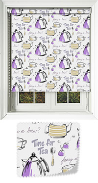 Brewtime Blackcurrent Roller Blind