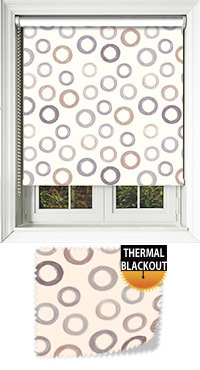 Bubbles Natural Cordless Roller Blind