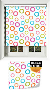 Bubbles Pink Vertical Blind