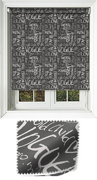 Buzzword Black Cordless Roller Blind