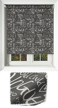 Buzzword Black Vertical Blind