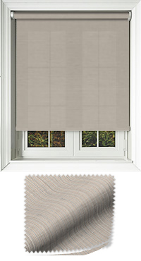 Canvas Buff Wooden Blind