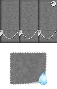 Chamois Grey Bifold Doors Blind