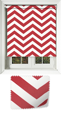 Chevron Lava Wooden Blind