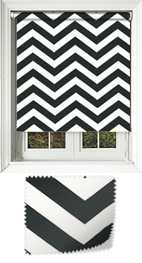 Chevron Noir Skylight Blind