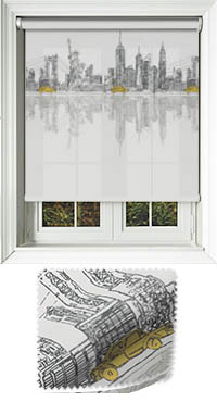 City Horizon New York Motorised Roller Blind