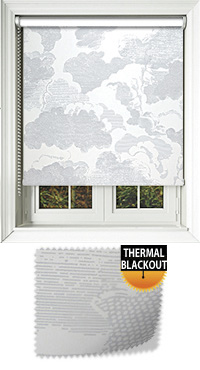 Cloudy Sky Cordless Roller Blind