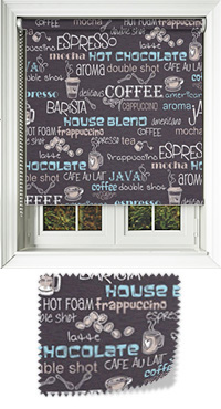 Cuppa Coffee Cocoa Cordless Roller Blind