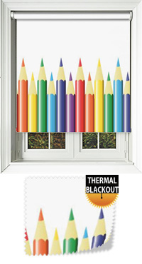 Colouring Book Bifold Doors Blind