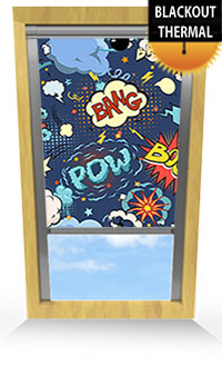 Comic Book Wooden Blind