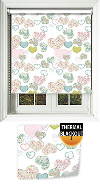 Confetti Hearts Replacement Vertical Blind Slat