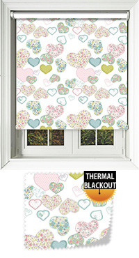 Confetti Hearts Vertical Blind