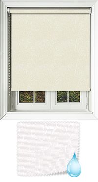 Crackles Ivory Roller Blind